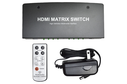 4x2 Port HDMI Matrix Switch - Package Contents